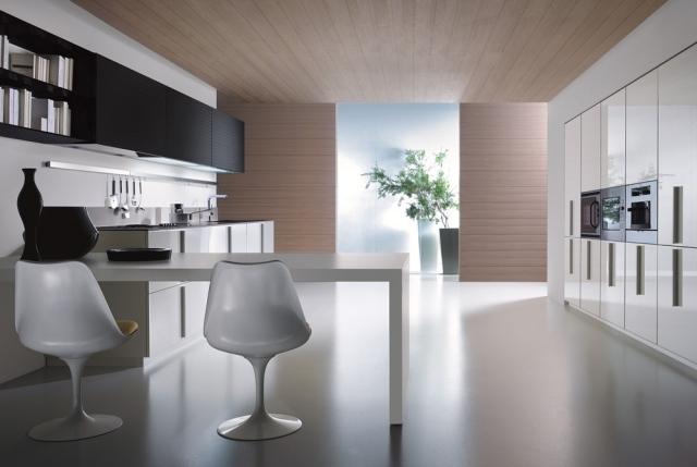 moderne einbaukuechen design zeitlos - design - Küchen Aus Italien