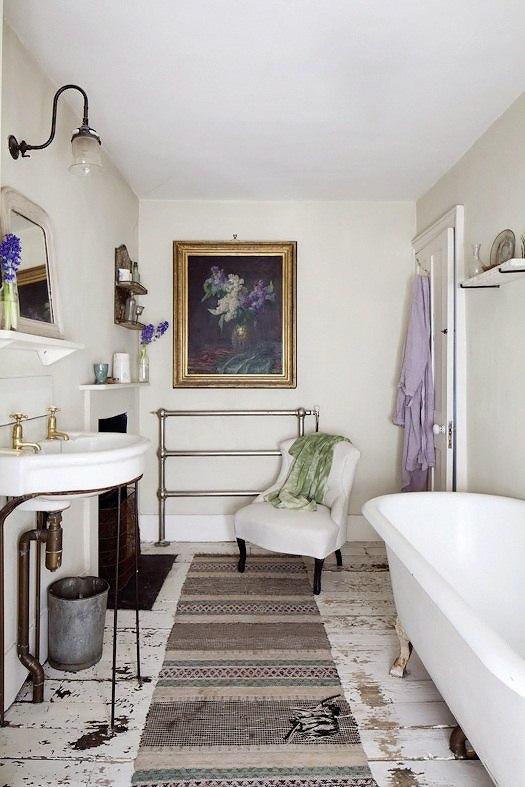 Der Shabby Chic Einrichtungsstil In Einem Charmanten Haus In London    Badezimmer Shabby Chic