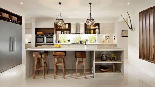 Simply white and pastel with Caesarstone countertops Caesarstone - offene küche ideen
