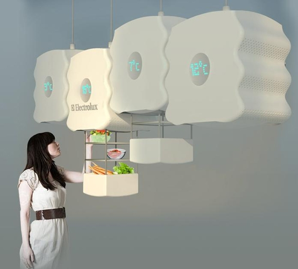 20 futuristische und innovative Kühlschrank-Designkonzepte - innovative kuhlschrank designkonzepte