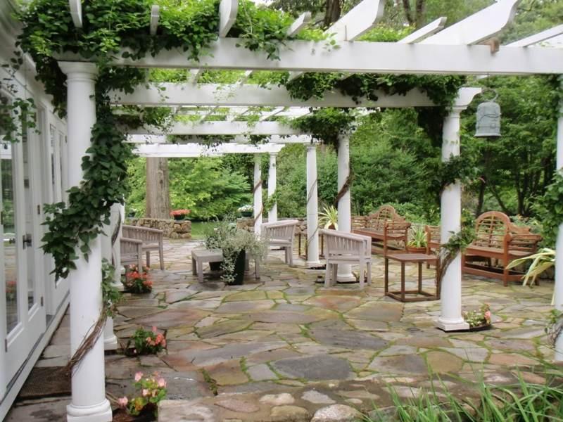 Wisteria Falls Wallpaper Gartenlaube Und Pergola Begr 252 Nen Welche Pflanzen Eignen