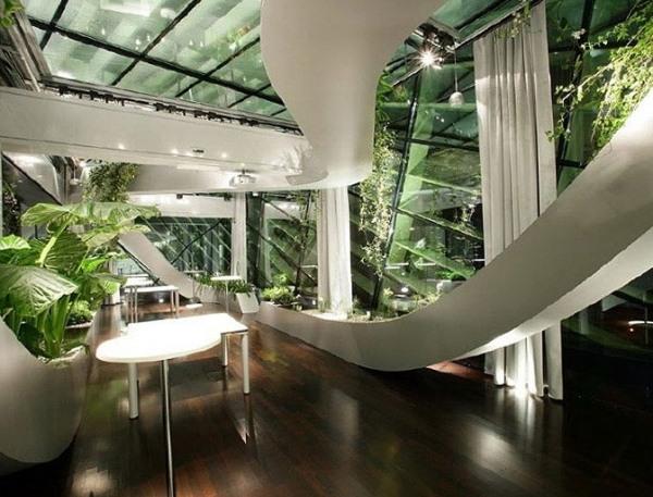 3d Wallpaper Futurist Ruhevollen Indoor Garten Anlegen Welche Pflanzen Eignen