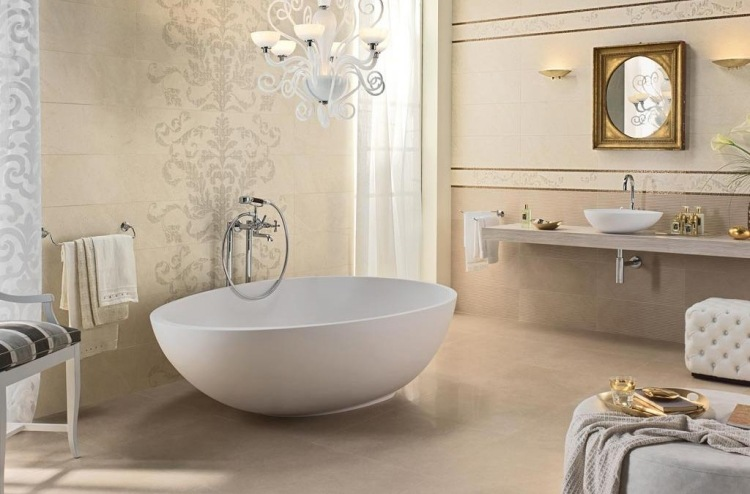 Badideen   80 Badfliesen Ideen Und Moderne Designs   Badezimmer Gold