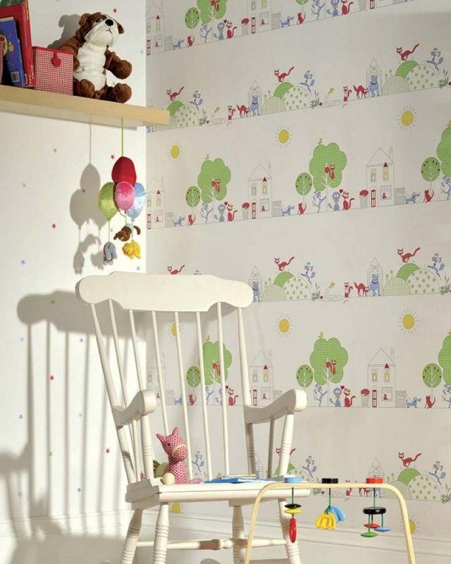 25 Ideen für Kinderzimmer Tapeten - Farbenfrohe Muster und Prints - kinderzimmer tapete ideen