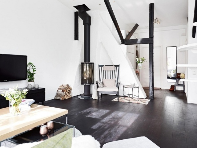 Awesome Futuristisches Interieur Loft Wohnung Images - Farbideen ...
