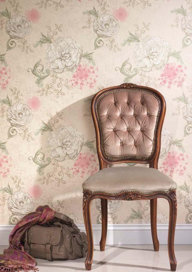 85 Wohnzimmer Tapeten Ideen - Florale und Barock Muster - tapete schlafzimmer romantisch