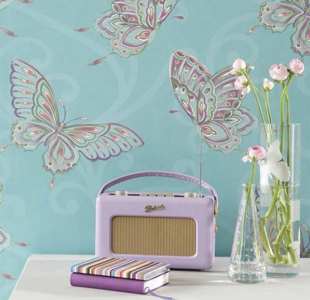 25 Ideen für Kinderzimmer Tapeten - Farbenfrohe Muster und Prints - kinderzimmer blau mdchen