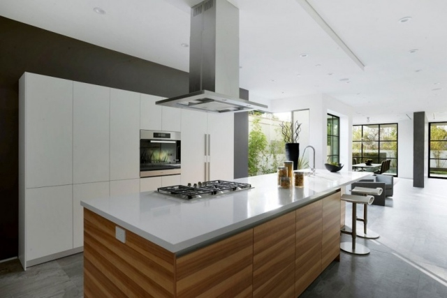 Afbeeldingsresultaat voor lamp kookeiland plank lamp Pinterest - küche weiß mit holz