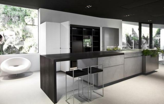 Designer Kuche Baumstamm Beton u2013 churchworkinfo - moderne einbaukuche besticht durch minimalistische asthetik