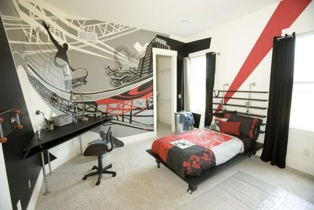 Jugendzimmer gestalten u2013 31 coole Design-Ideen für Jungs - jugendzimmer gestalten