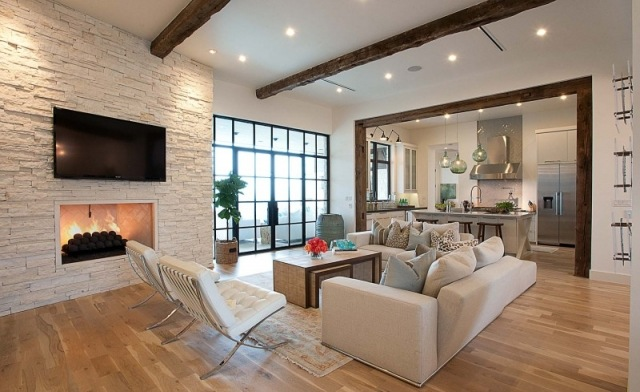 93 Ideen zur Wandgestaltung mit Holz,Stein,Tapete und mehr - tapete steinoptik wohnzimmer
