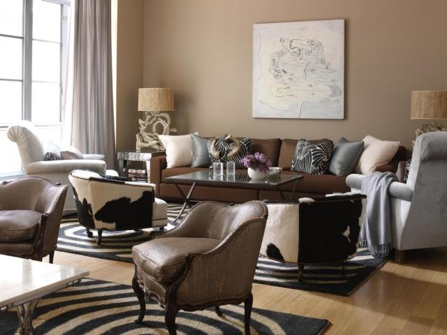 Wohnzimmereinrichtung Ideen u2013 Brauntöne sind modern - wohnzimmer in braun