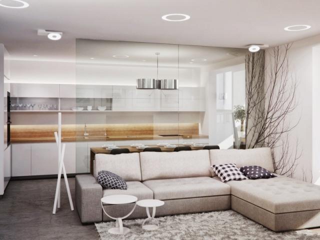 Stunning Small Apartment Interior Design Pictures Gallery DECOR - küche weiß mit holz