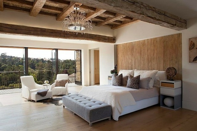 Wandgestaltung im Schlafzimmer u2013 77 Ideen zum Einrichten - schlafzimmer einrichten holz