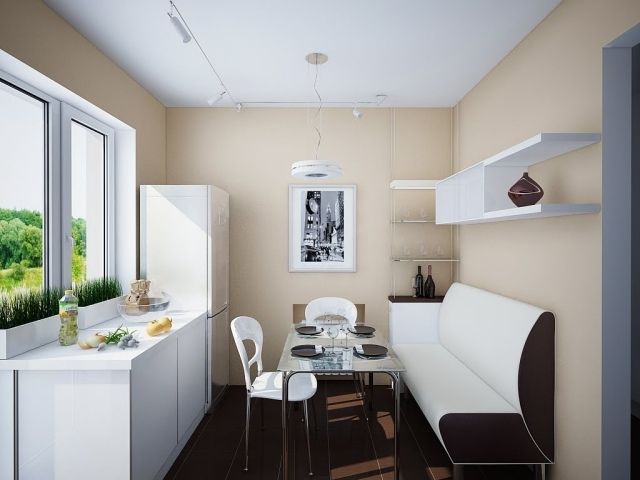 ... Einrichtungstipps Für Kleine Küche   25 Tolle Ideen Und Bilder   Kche  Mit Essbereich ...