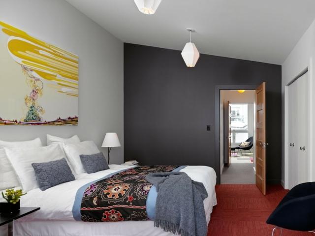 Wandfarbe Grau im Schlafzimmer u2013 77 Gestaltungsideen - schlafzimmer gestalten wandfarbe