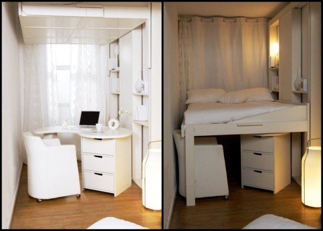Hochbetten für Erwachsene - Gute Idee für kleine Wohnung - schlafzimmer ideen fur kleine raume