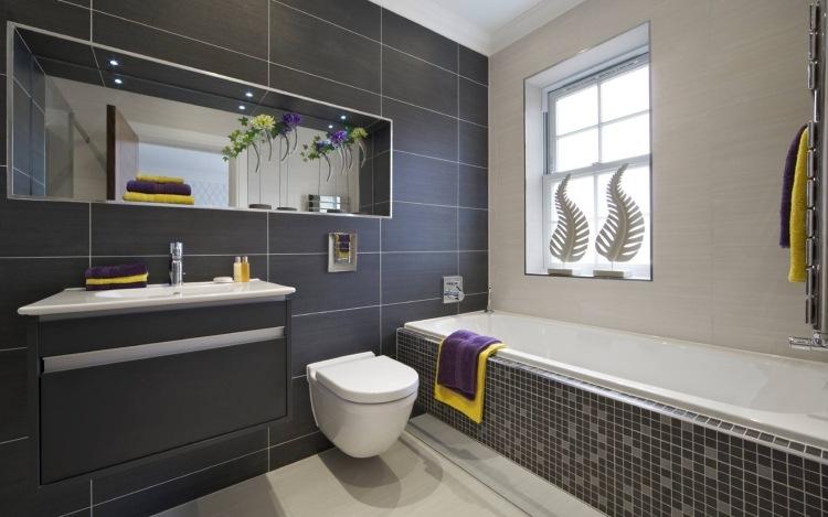 42 moderne Fliesen für das Bad und den Wohnbereich - badezimmer anthrazit weis fliesen