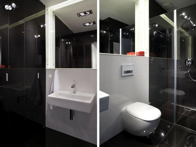 Moderne Badezimmer Einrichtungen   30 Bilder Und Ideen   Moderne Badezimmer Schwarz  Weiss
