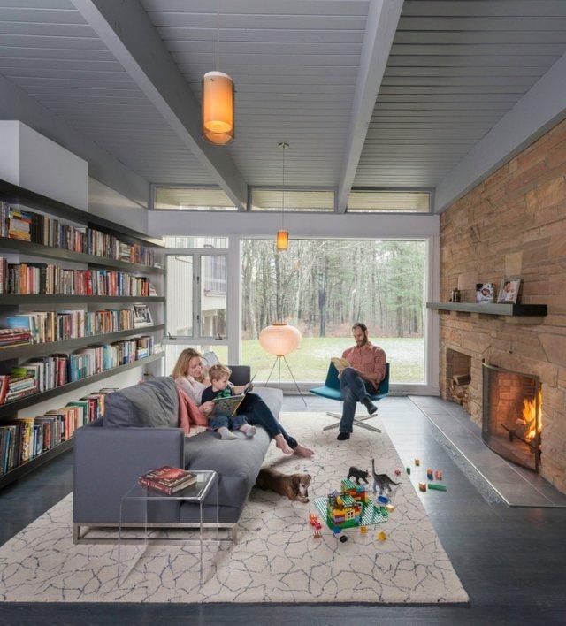 Hausbibliothek Regalwand Im Wohnzimmer hausdekorationen und - fernsehsessel im wohnzimmer relaxmobel