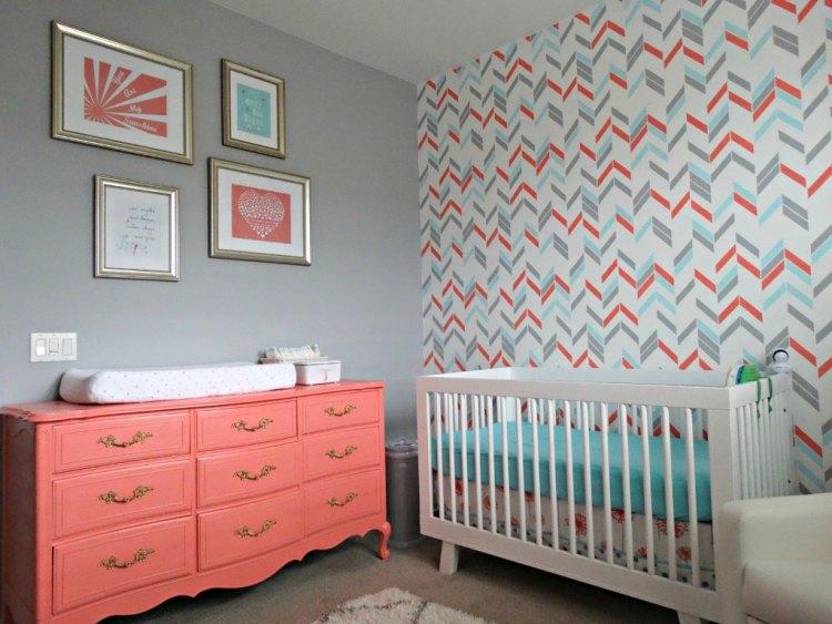 65 Wand streichen Ideen - Muster, Streifen und Struktureffekte - kinderzimmer streichen madchen