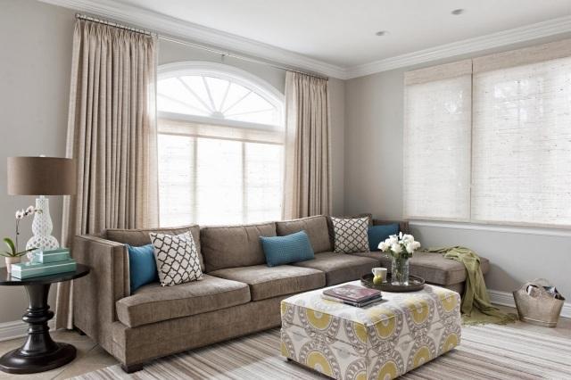 Ideen zum Wohnzimmer einrichten in neutralen Farben - wohnzimmer einrichten brauntone