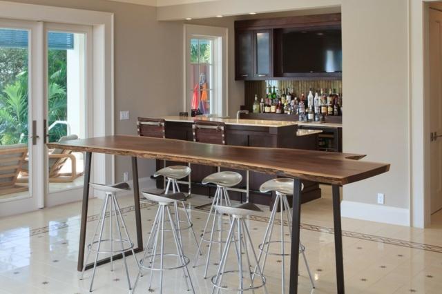 Massivholzmobel ideen esstisch baumstamm  Designer-stuehle-metall-baumstamm-49. designer mobel aus metall ...