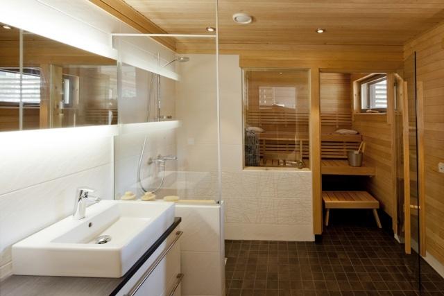 Bad mit Sauna planen - Was muss man beachten? - badezimmer mit sauna