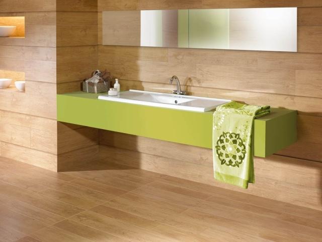32 moderne Badideen u2013 Fliesen in Holzoptik verlegen - badideen fliesen