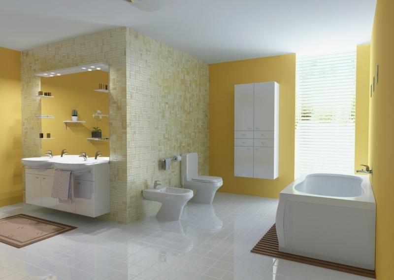 Bad streichen - Ist spezielle Farbe im Badezimmer notwendig? - wande streichen farbe