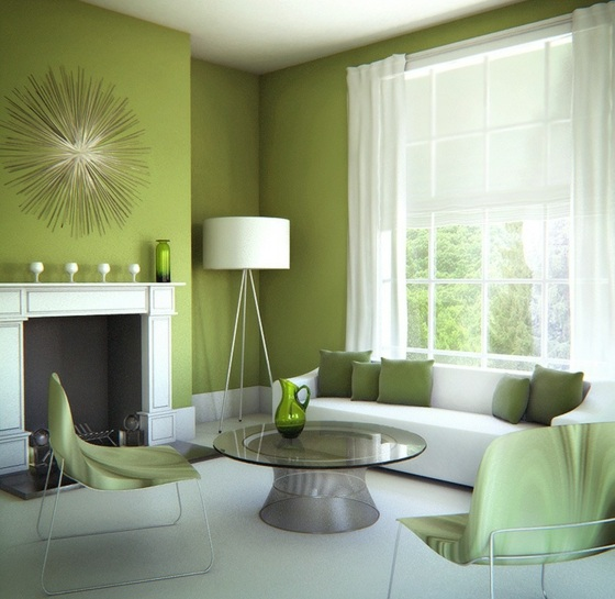 Wohnzimmer grüne wand  Farbe F Amp Uuml Rs Schlafzimmer. schlafzimmer grüne linie ...