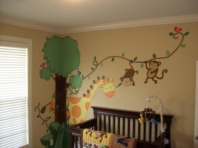 Wandgestaltung Kinderzimmer Streifen: Küche Wandgestaltung Grün ... Babyzimmer Wandgestaltung Neutral