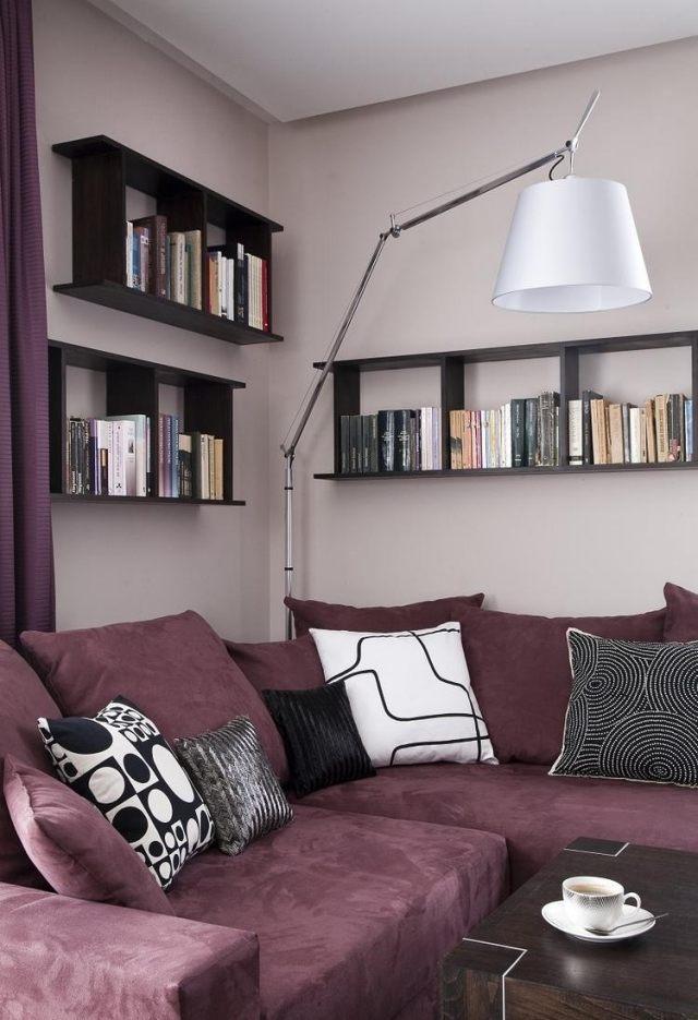 29 Ideen fürs Wohnzimmer streichen u2013 Tipps und Beispiele - beispiele wandfarbe lila wohnzimmer