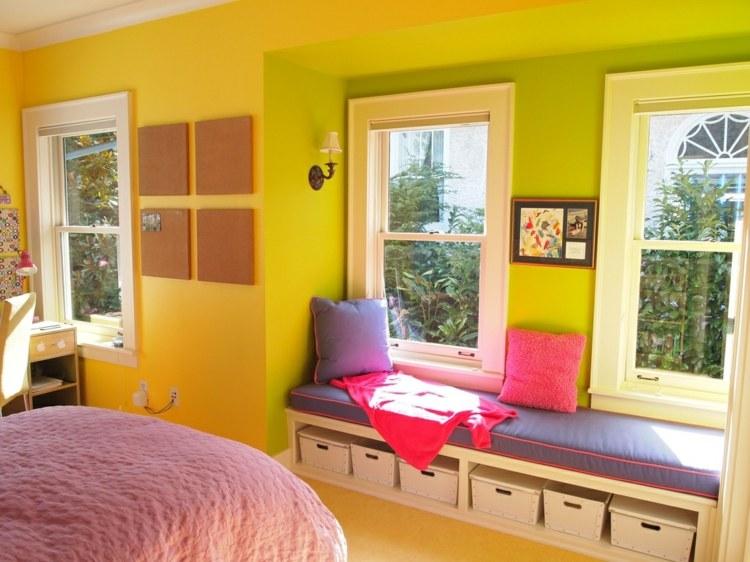 Tipps zur Kinderzimmer Wandgestaltung mit Farbe Gelb - wandgestaltung farbe kinderzimmer