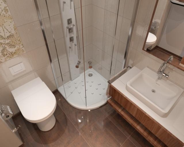 33 Ideen für kleine Badezimmer - Tipps zur Farbgestaltung - badezimmer ideen braun beige