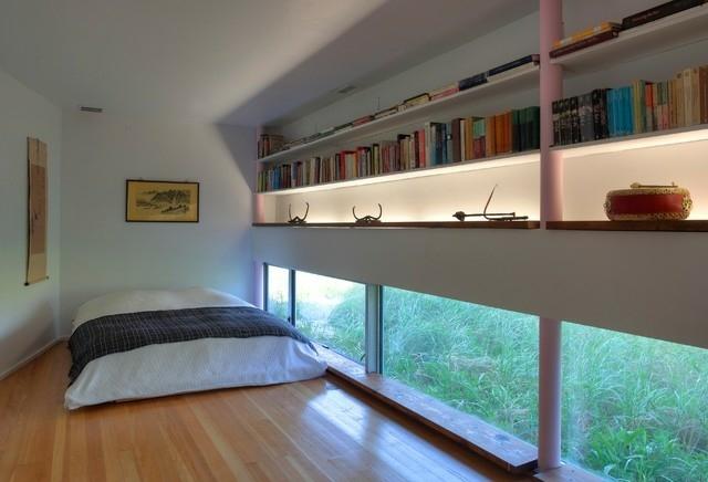 Schlafzimmer Mit Holzwand - Wohndesign
