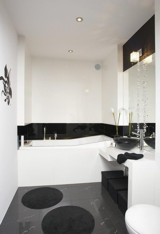 33 Ideen für kleine Badezimmer - Tipps zur Farbgestaltung - weies badezimmer modern gestalten