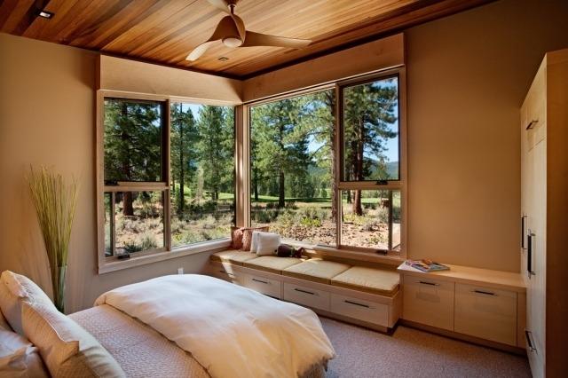 ... Kleines Schlafzimmer Mit Großer Fensterfront Einrichten   Schlafzimmer  Fenster ...