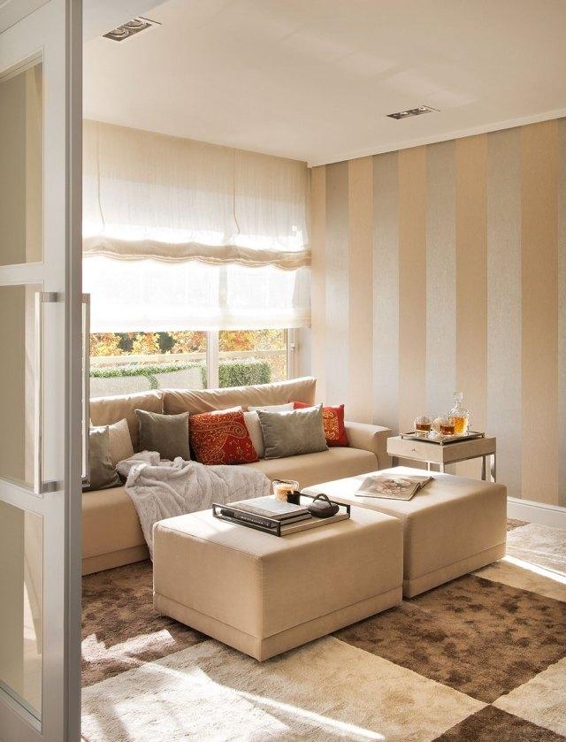 29 Ideen fürs Wohnzimmer streichen u2013 Tipps und Beispiele - wohnzimmer silber streichen