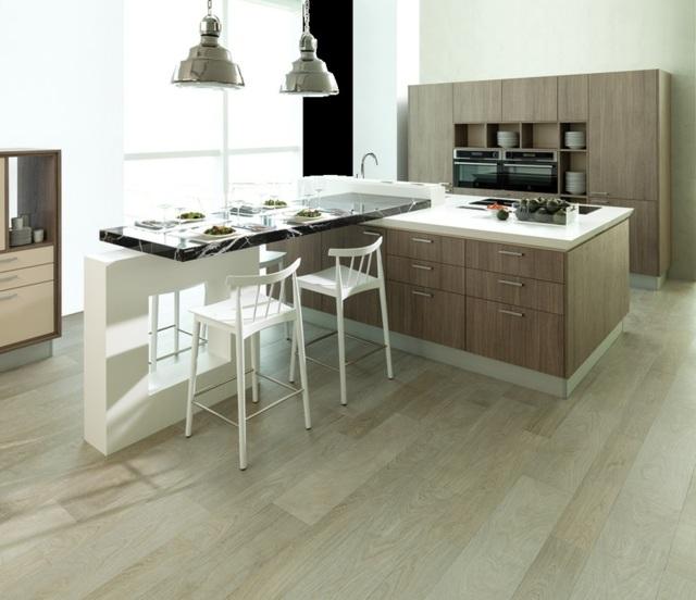 Moderne Küchen aus Holz - die Vorteilen vom Naturmaterial - moderne kuche gestalten