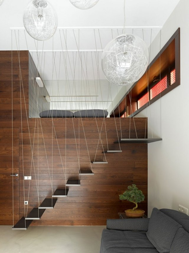 Holz Geländer Innen Weiss