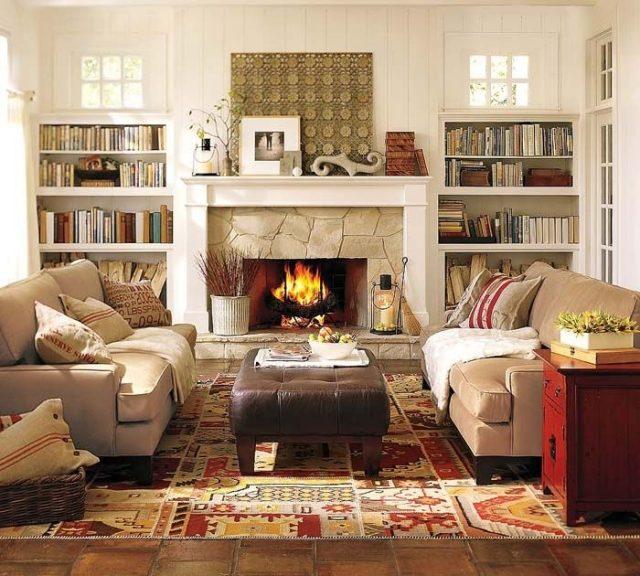 Wohnzimmer im Landhausstil gestalten - 55 gemütliche Ideen - landhausstil rustikal wohnzimmer