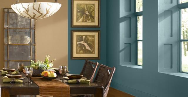 Wände mit Farbe streichen u2013 Ideen für trendige Farbduos - wande streichen farbe