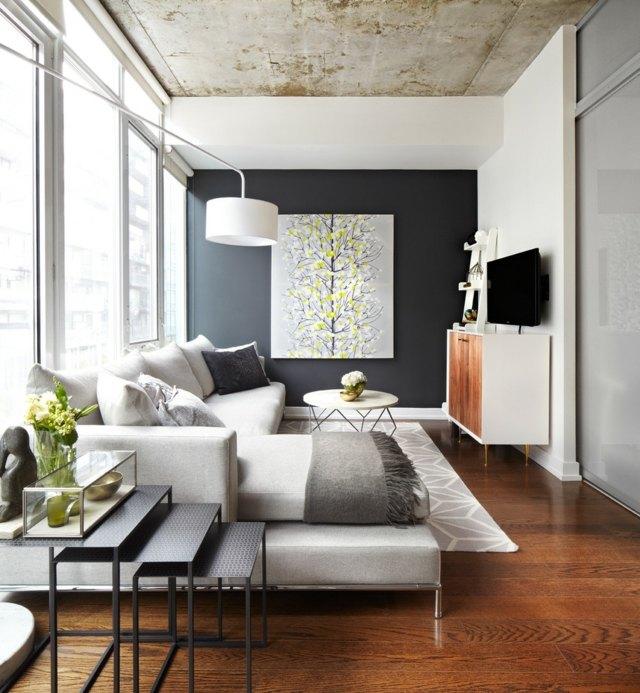 Ideen für das kleine Wohnzimmer u2013 30 inspirierende Bilder - wandbilder wohnzimmer ideen