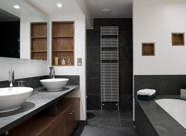 106 Badezimmer Bilder - Beispiele für moderne Badgestaltung - designer schranke holz keramik