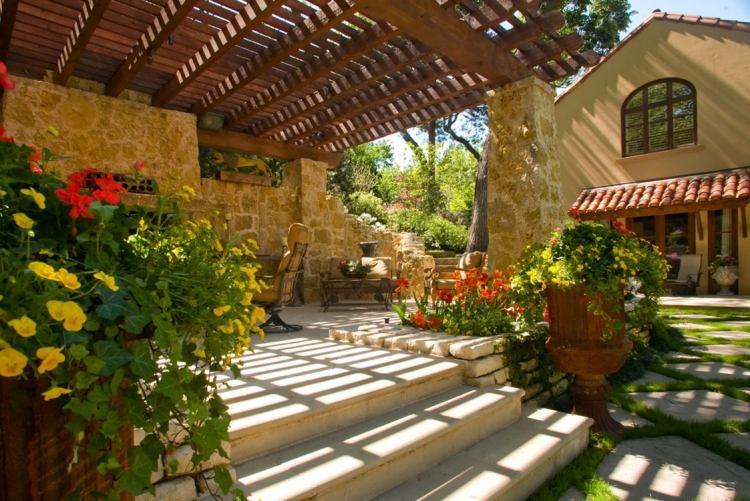 30 Beispiele für Terrassengestaltung mit Toskana-Flair - terrassengestaltung beispiele