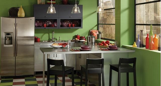 Kuchenwand Streichen Farbideen - Design