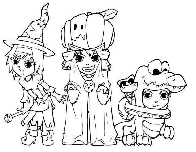 Halloween Coloring Pages Print - Democraciaejustica