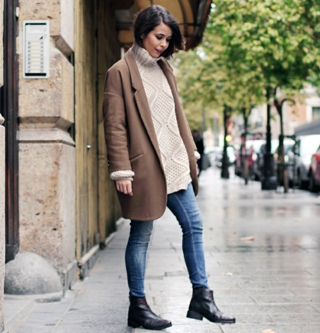 Stiefeletten Outfit Damen Pullover Im Herbst Tragen – 20 Coole Outfits
