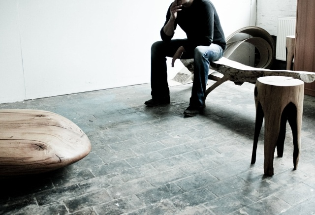 Designer Mobel Verbranntem Holz - Design